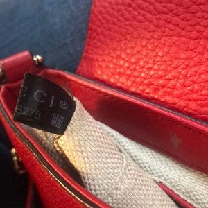 Gucci Bags - Gucci red leather disco bag on chain